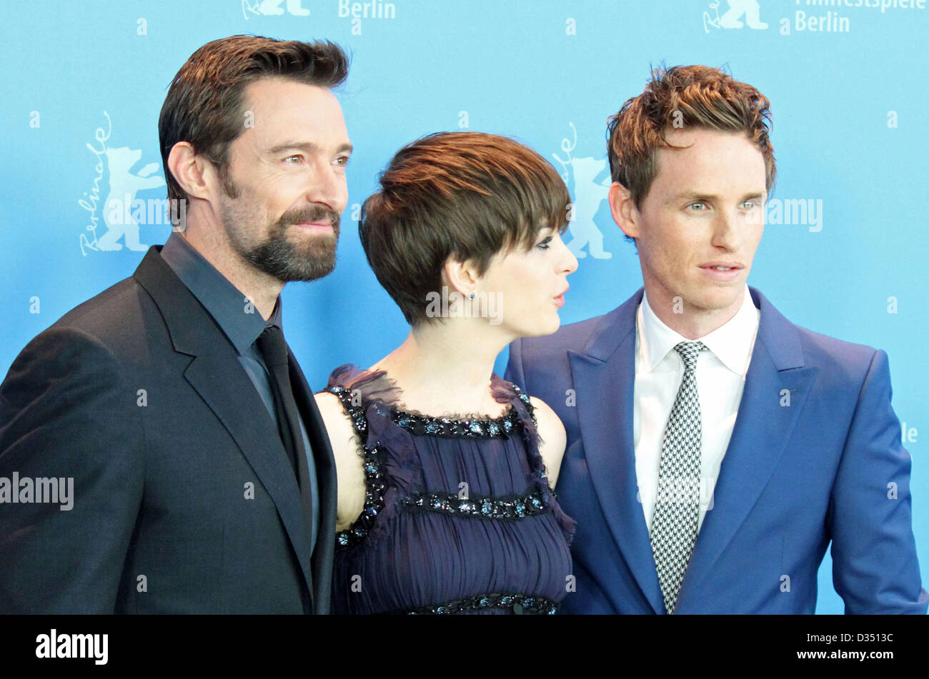 Im im images of anne hathaway - Hugh Jackman Anne Hathaway Eddie Redmayne Photocall Les Miserables Im Hyatt Hotel In Berlin Am 09 02 2013 Foto Succomedia Steffi Karrenbrock