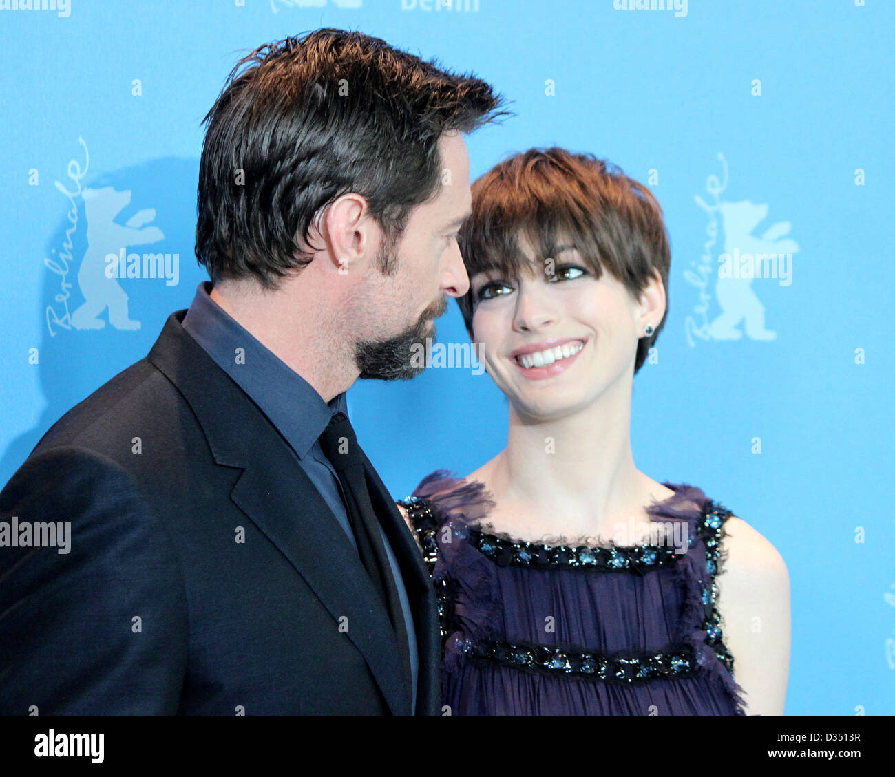 Im im images of anne hathaway - Hugh Jackman Anne Hathaway Photocall Les Miserables Im Hyatt Hotel In Berlin Am 09 02 2013 Foto Succomedia Steffi Karrenbrock