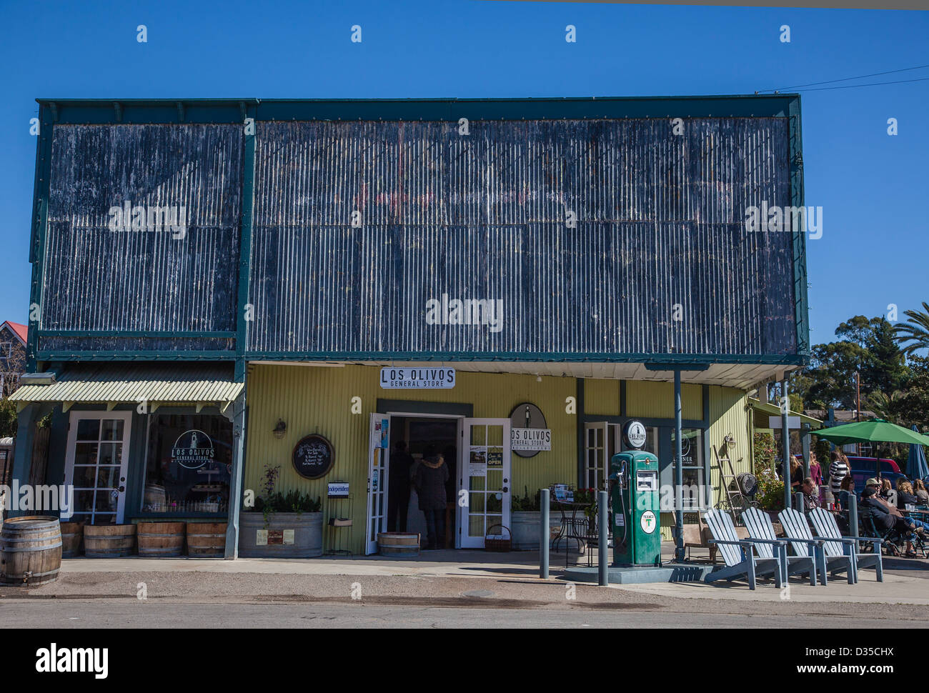 Front Elevation Antiques : Front elevation of the los olivos general store a false