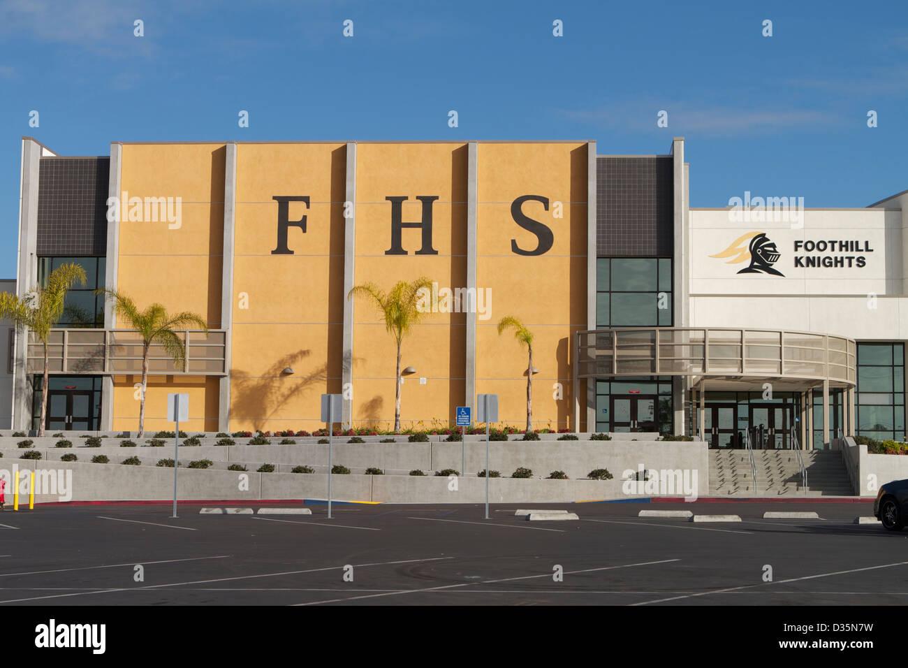 foothill high school santa ana california usa stock
