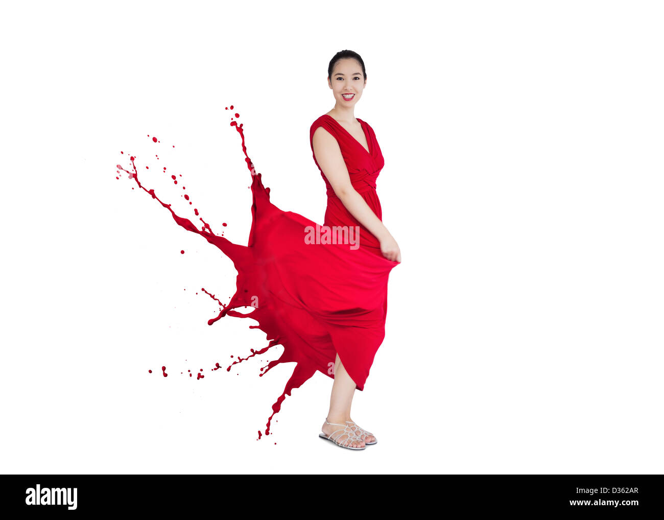 red paint splatter stock photos & red paint splatter stock images