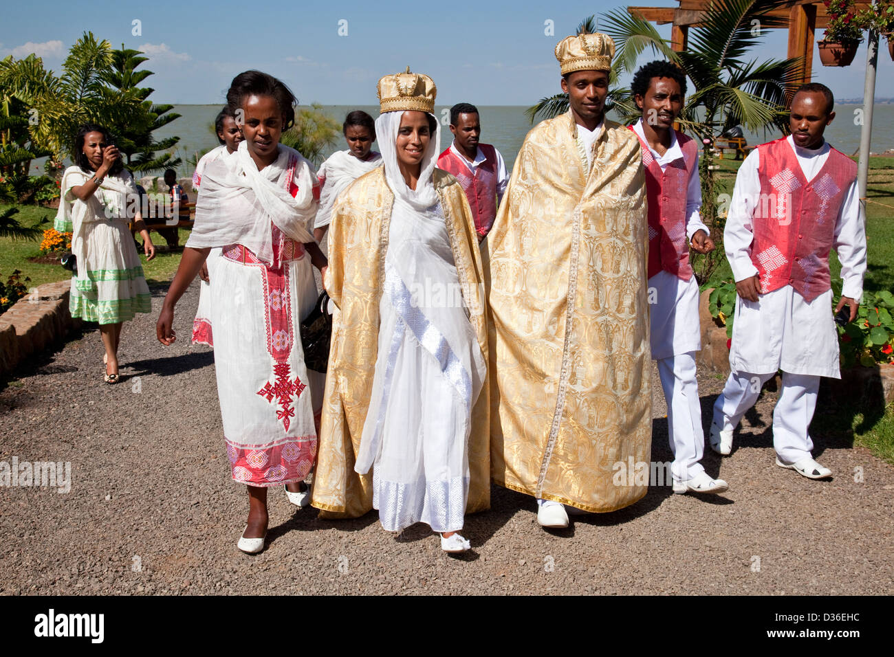 Ethiopian Wedding Party Lake Tana Bahir Dar Ethiopia Stock Photo Royalty Free Image