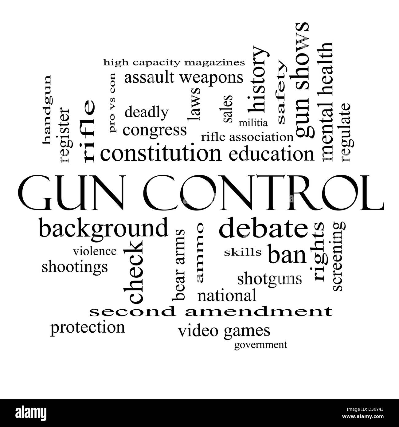 gun control word cloud concept great terms such as second  gun control word cloud concept great terms such as second amendment right bear arms violence and more
