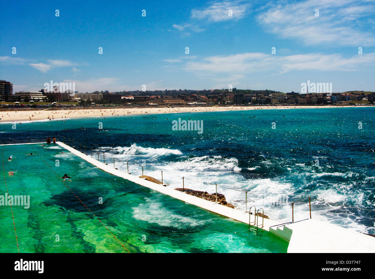 The Outdoor Sea Bondi Baths Swimming Pool At Icebergs Restaurant At Stock Photo Royalty Free