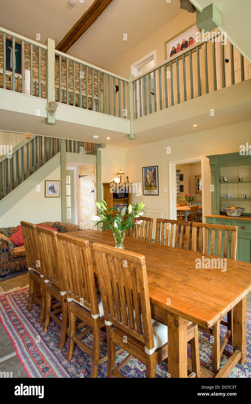A Double Height Dining Room In Converted Barn