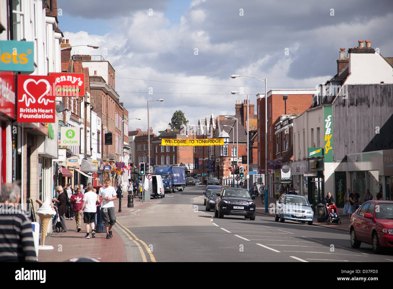 Charity Shops In Tonbridge High Street Kent Uk Stock Photo