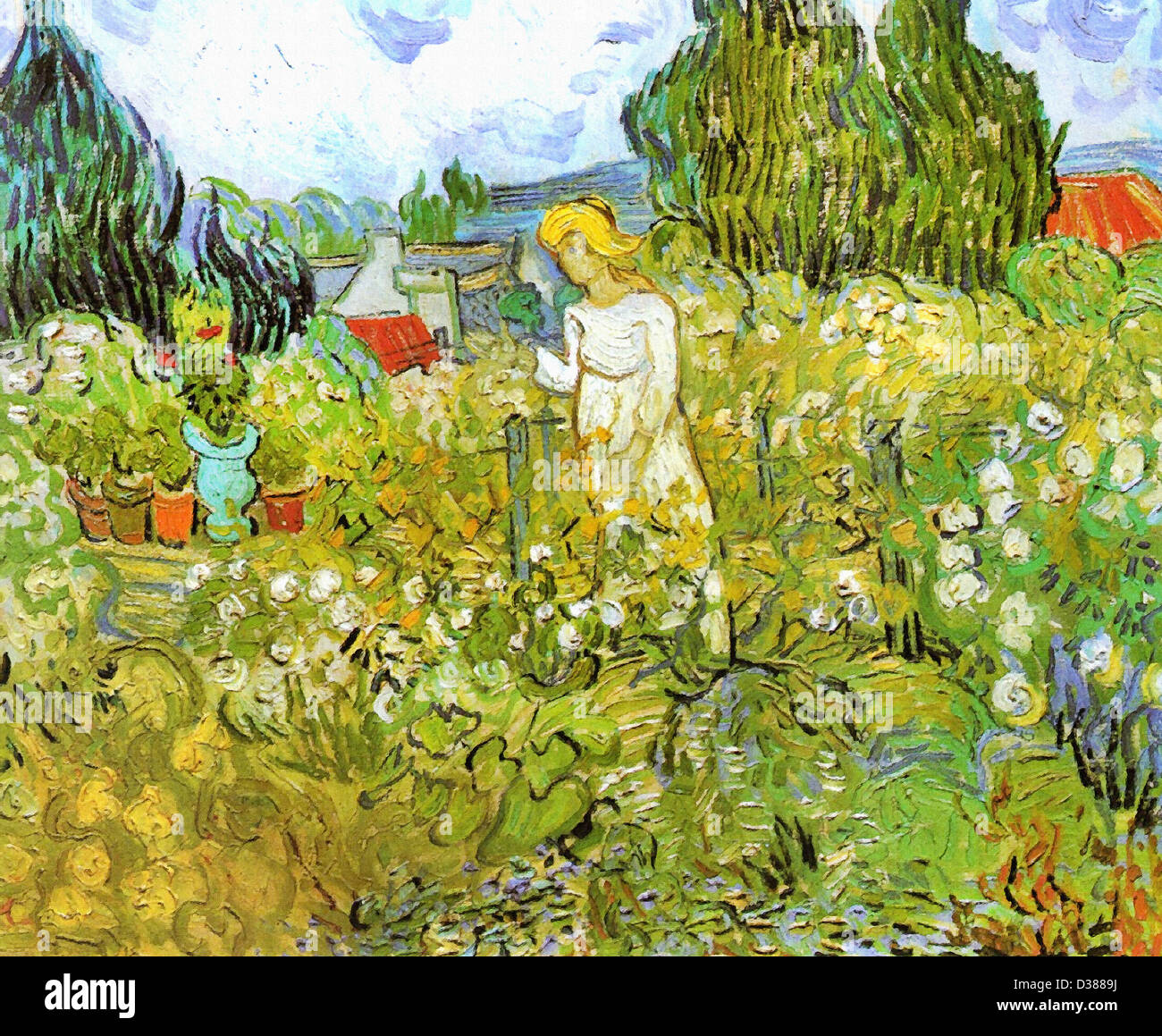 Vincent Van Gogh, Mademoiselle Gachet In Her Garden At Auvers Sur Oise.  1890. Post Impressionism. Oil On Canvas. Musée Du0027Orsay
