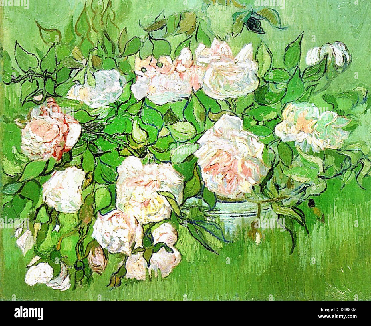 Vincent van gogh still life pink roses 1890 post vincent van gogh still life pink roses 1890 post impressionism oil on canvas ny carlsberg glyptotek copenhagen denmark reviewsmspy