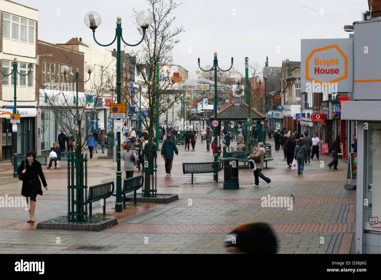 Scunthorpe Town Centre High Street Stock Photo Royalty