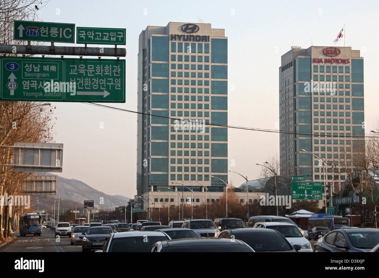 South Korea Hyundai Kia Motors Headquarters Seoul Stock