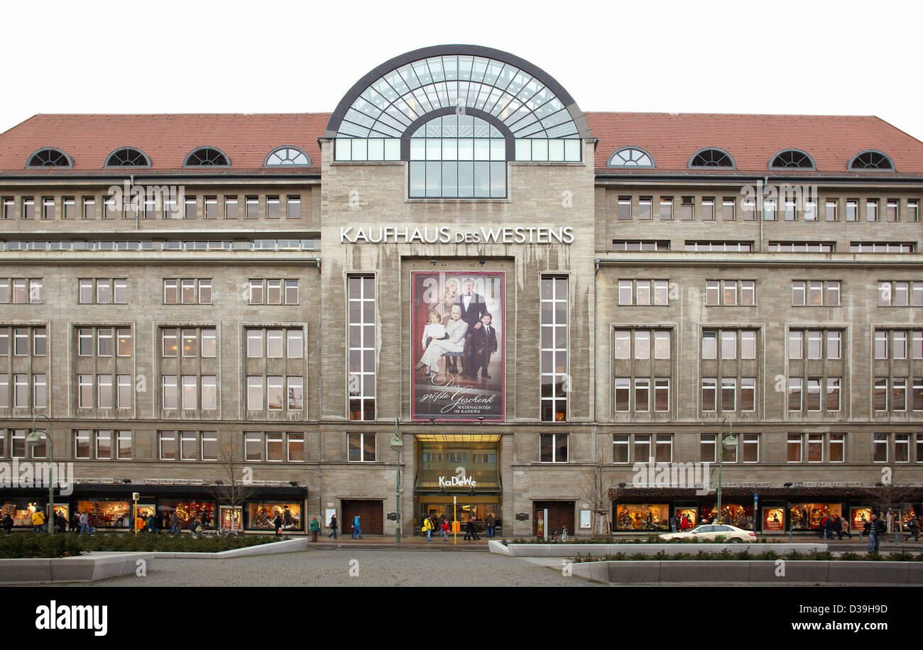 kadewe department store in berlin stock photo royalty. Black Bedroom Furniture Sets. Home Design Ideas