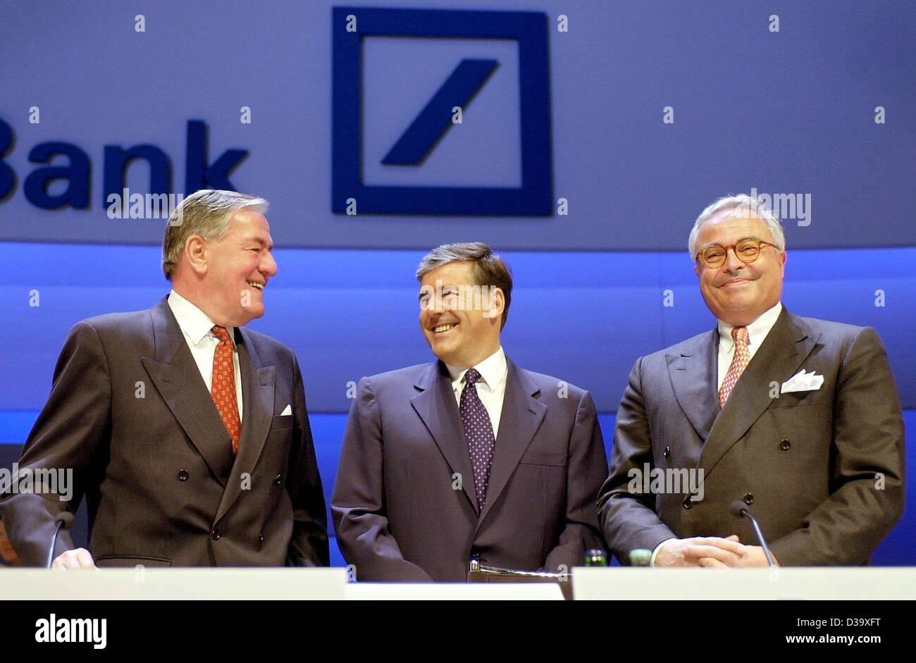 Hilmar Kopper Director Deutsche Bank Ag 01 June 1991 Stock Image Es
