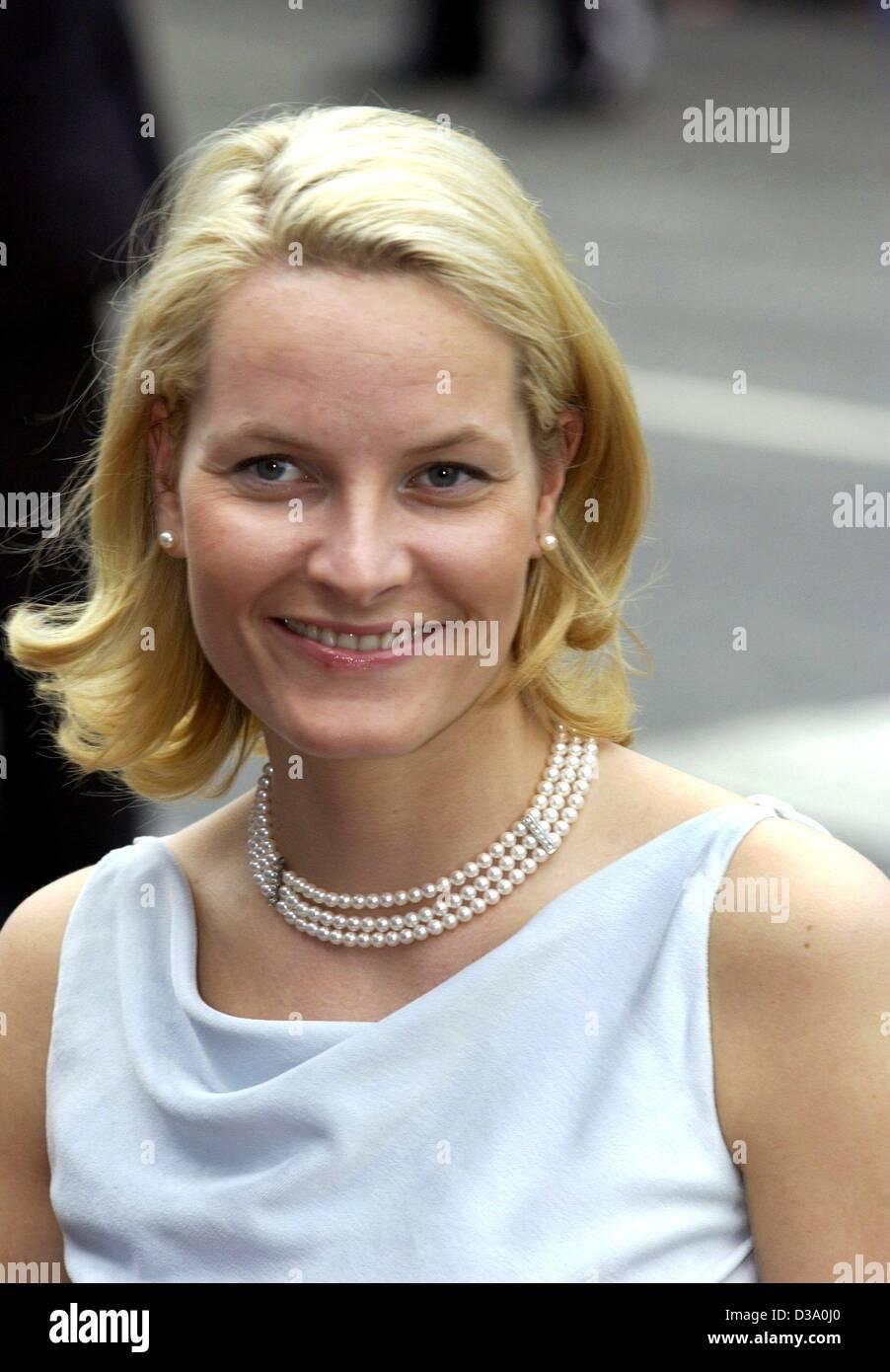 Dpa Norwegian Crown Princess Mette Marit Smiles As She