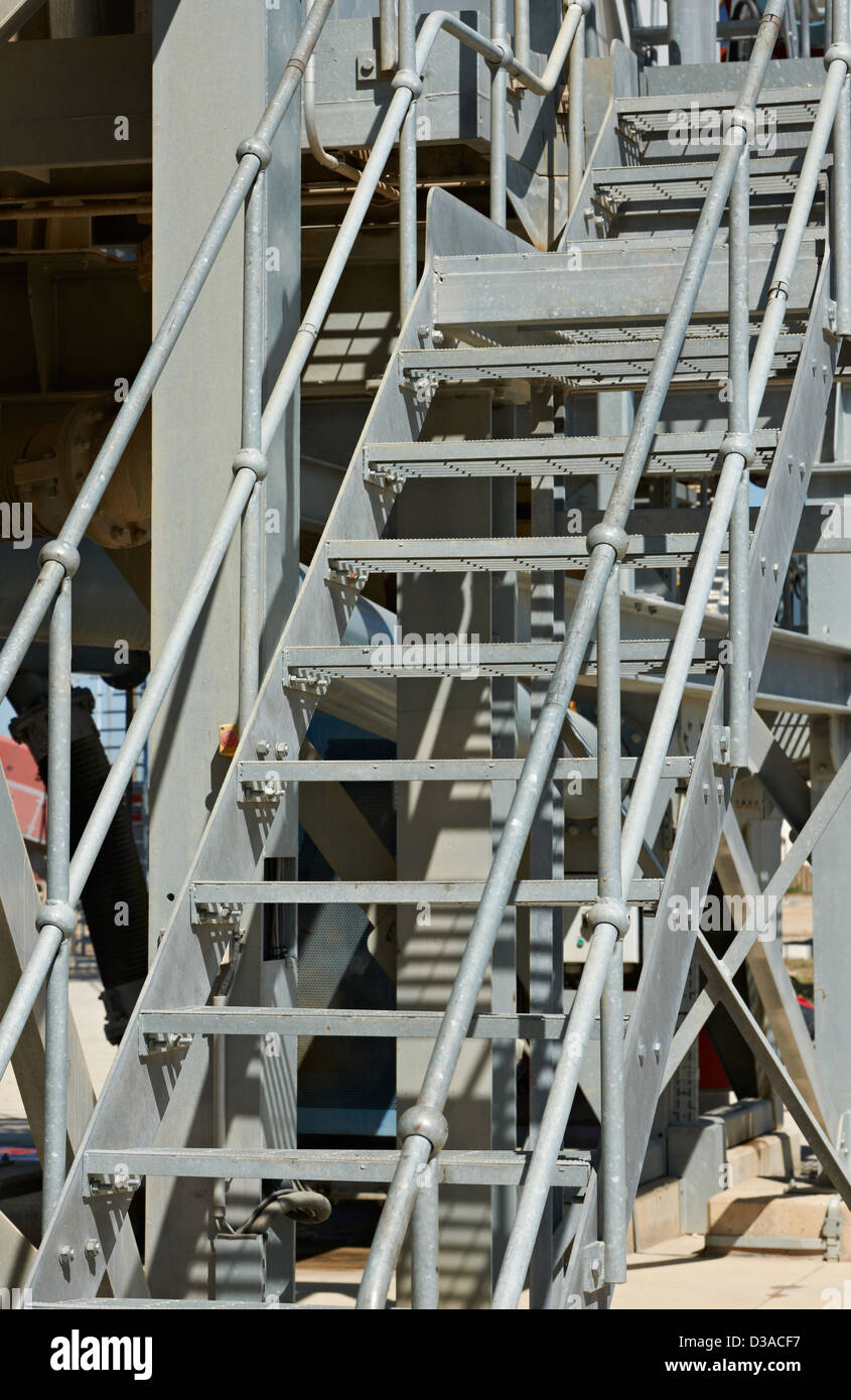 Industrial Metal Stairs Coated With Zinc