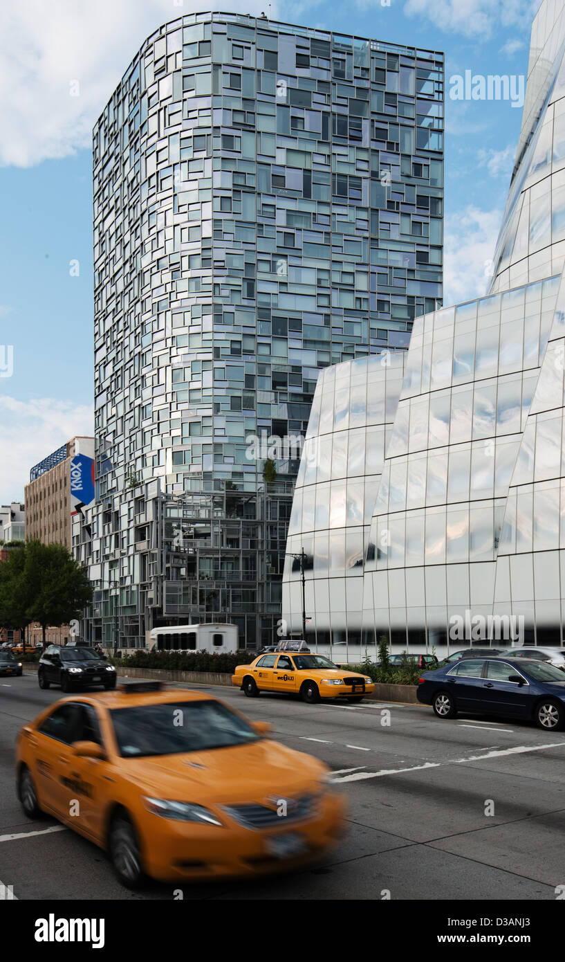 Jean nouvel 100 eleventh avenue and iac headquarters offices building by architect frank ghery chelsea
