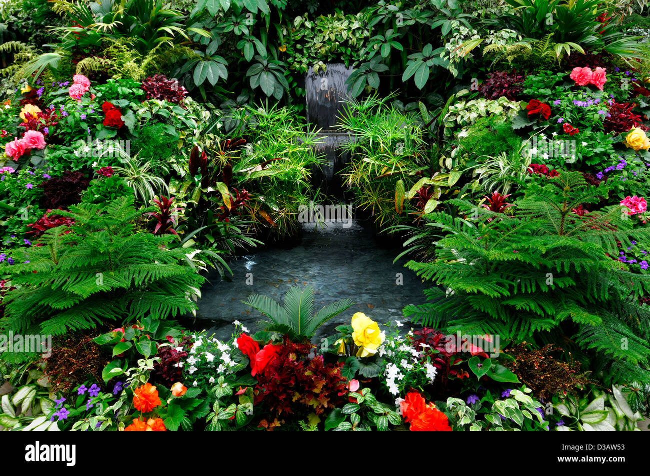 butchart gardens pond fountain stock photos u0026 butchart gardens
