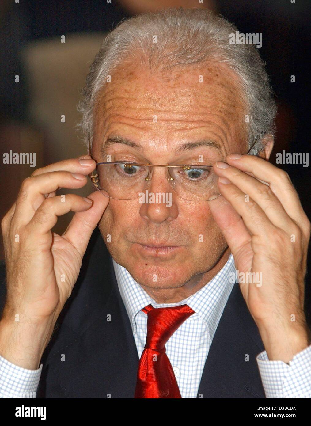 dpa Franz Beckenbauer President of the German soccer club FC