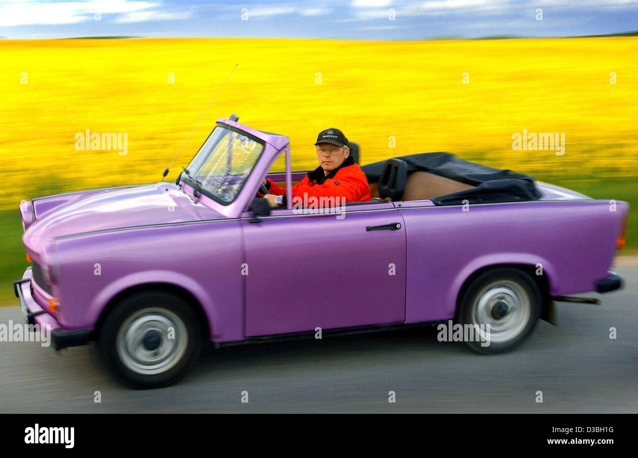 Dpa Bernd Quandt Owner Of A Car Rental Agency Drives A Lilac