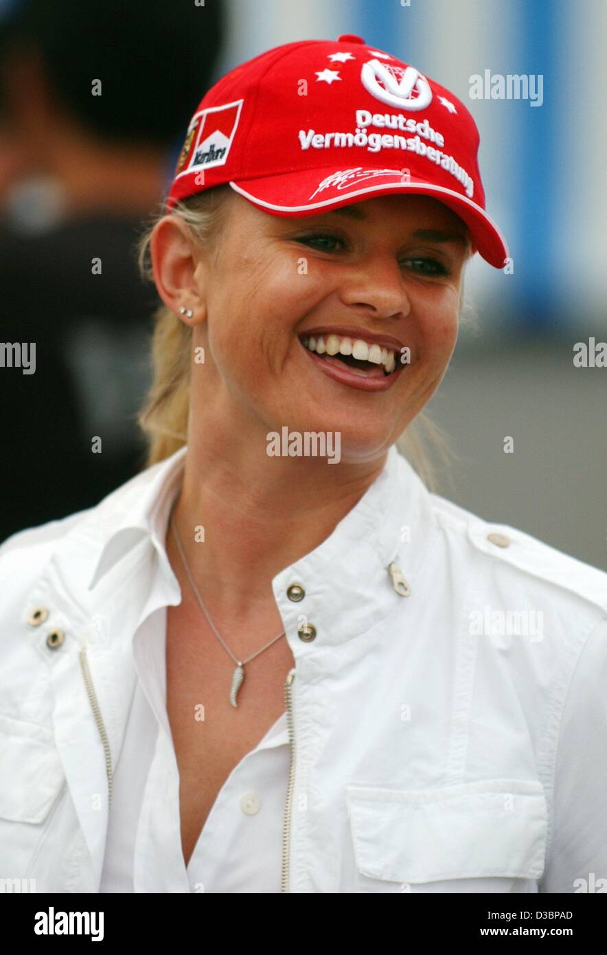 dpa corinna schumacher the wife of the german formula one pilot stock photo royalty free. Black Bedroom Furniture Sets. Home Design Ideas