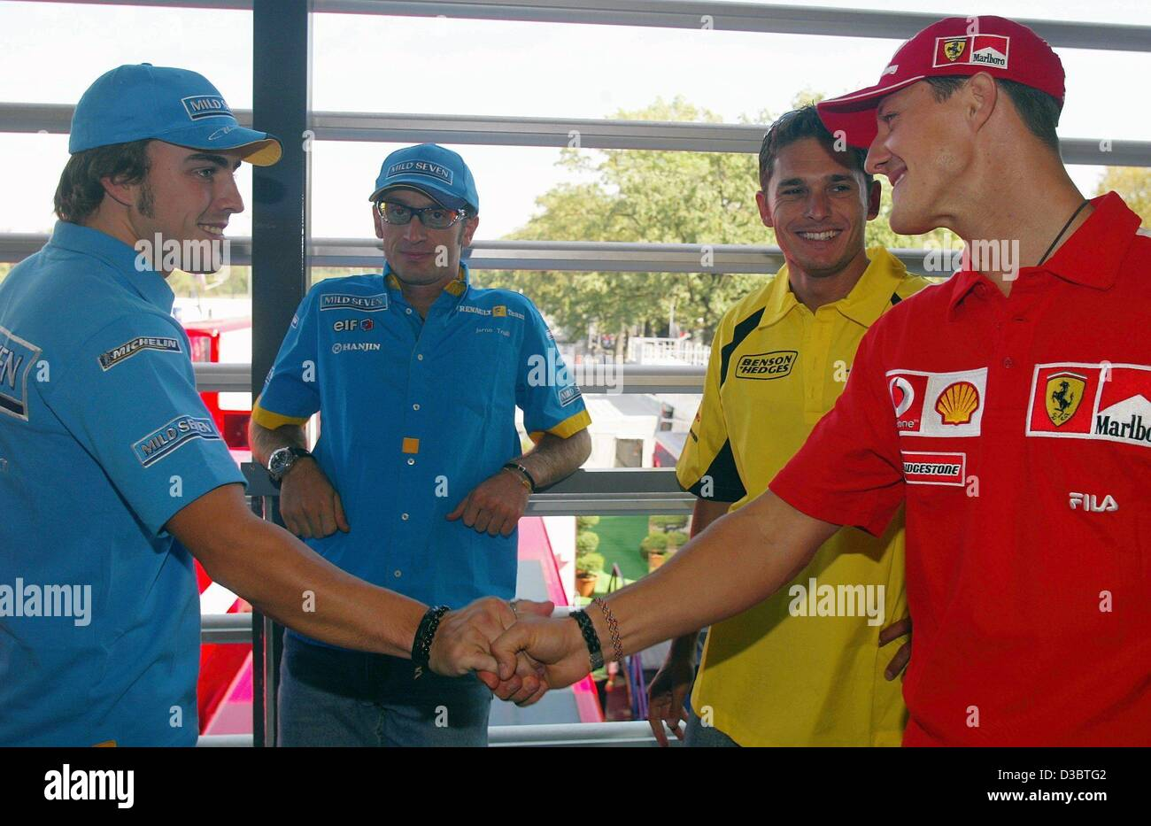 German F1 driver Michael Schumacher of Ferrari (L) Pictures ...