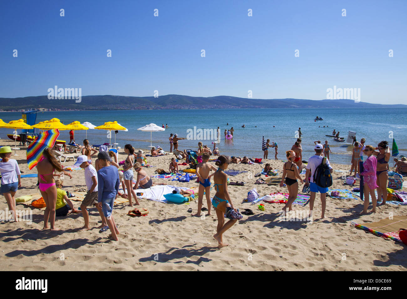 Bulgaria Europe Black Sea Coast South Sunny Beach People Enjoying The