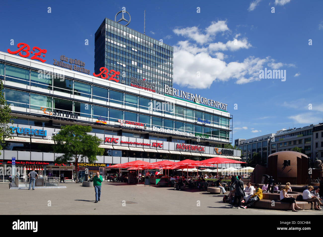 berlin germany the europa center on breitscheidplatz stock photo 53752052 alamy. Black Bedroom Furniture Sets. Home Design Ideas