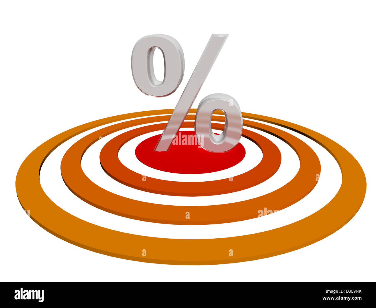 3d render illustration of a silver percent symbol on a red target 3d render illustration of a silver percent symbol on a red target mark buycottarizona Image collections