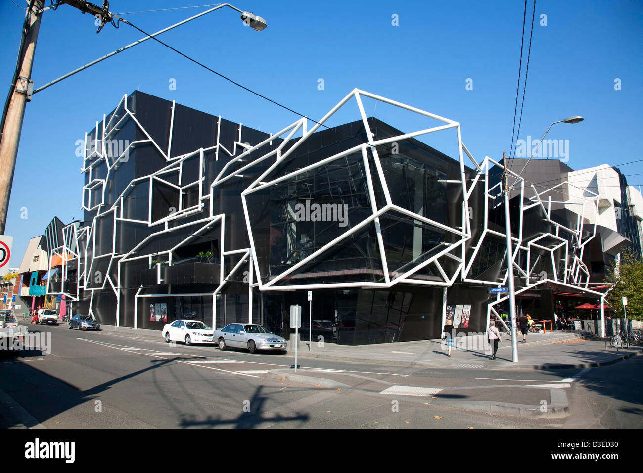 Stock Photo - The iconic architecture of the MTC Preforming Arts Sumner  Theatre South Melbourne Victoria Australia