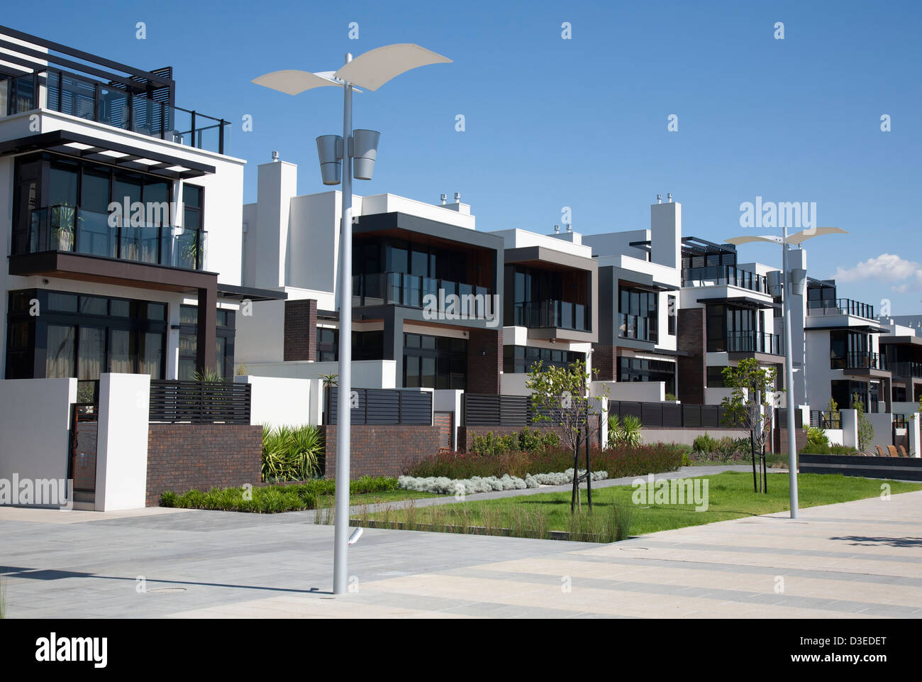 Townhouse Designs Melbourne The Avenues At Newquay Development Three Storey Townhouse Stock