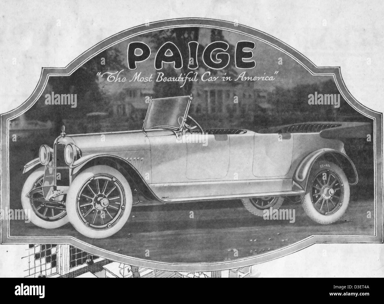 Paige Motor Car Company Advertisement The Most Beautiful Car In