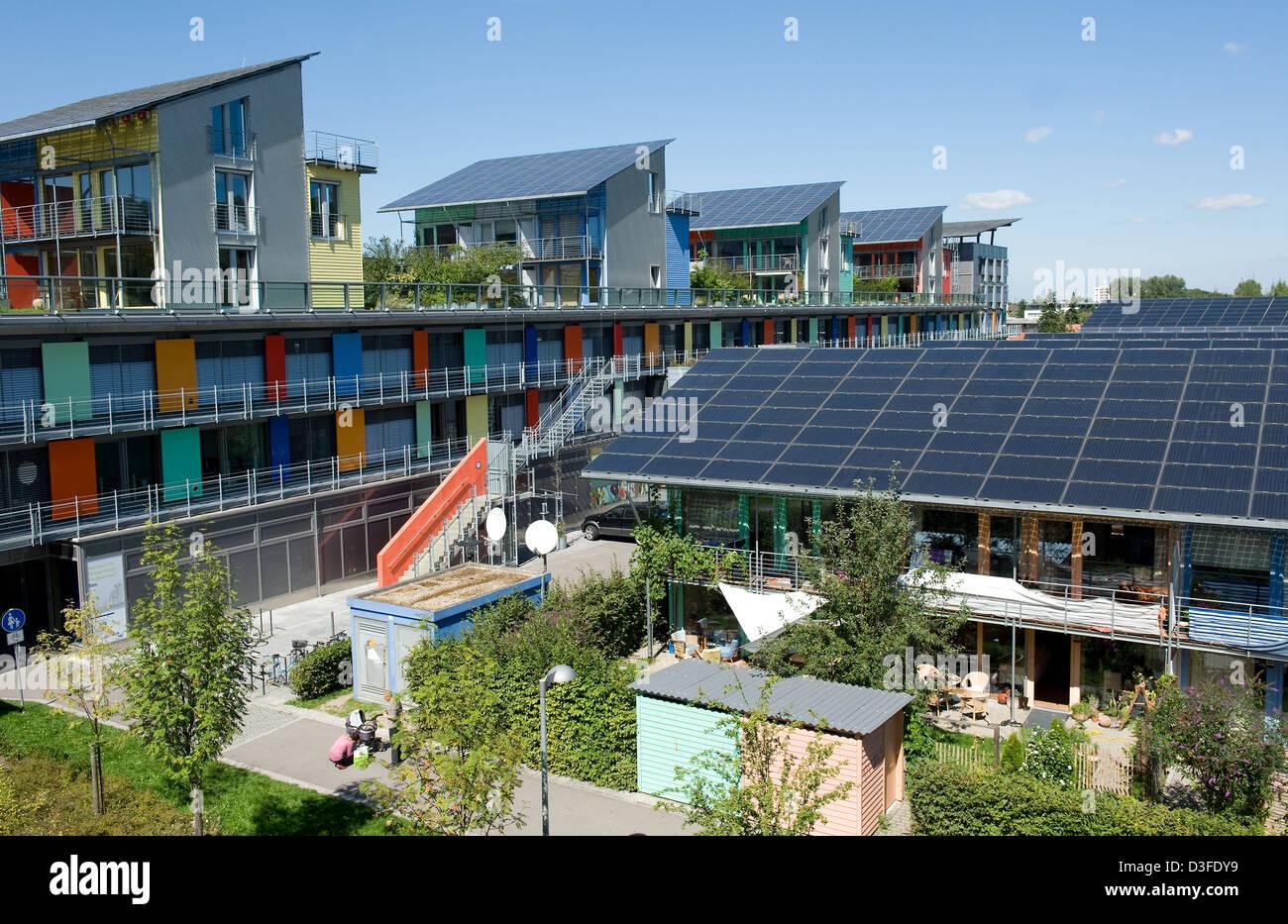 Freiburg, Germany, Solar Community in the Vauban quarter ...