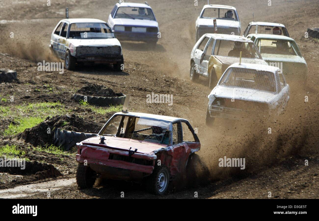 dpa not fit for the road anymore are these beat up cars fighting for ranks in a stubble field race in wendeburg germany 4 september 2004