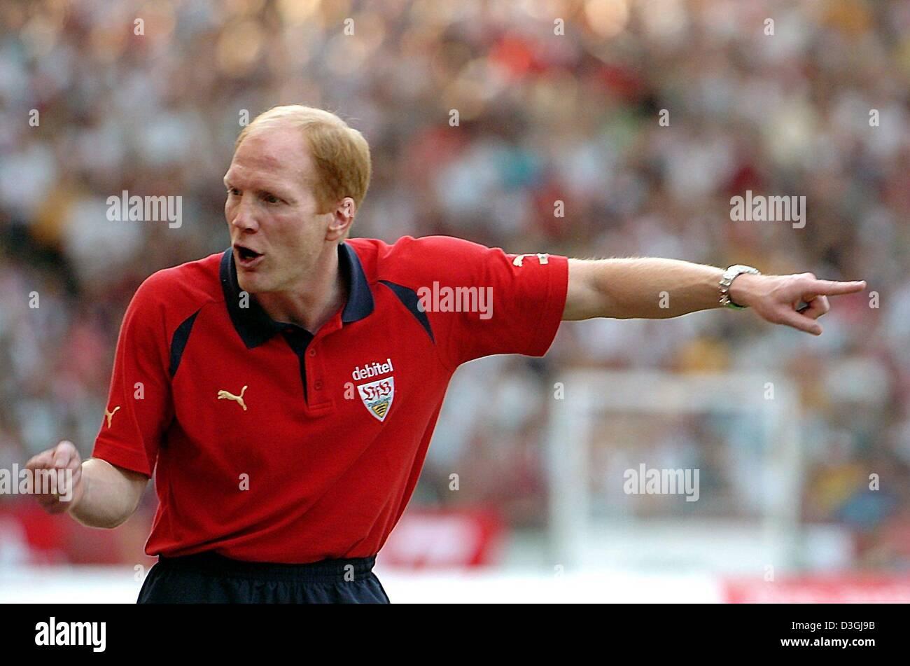 dpa Stuttgart s new coach Matthias Sammer gestures during the