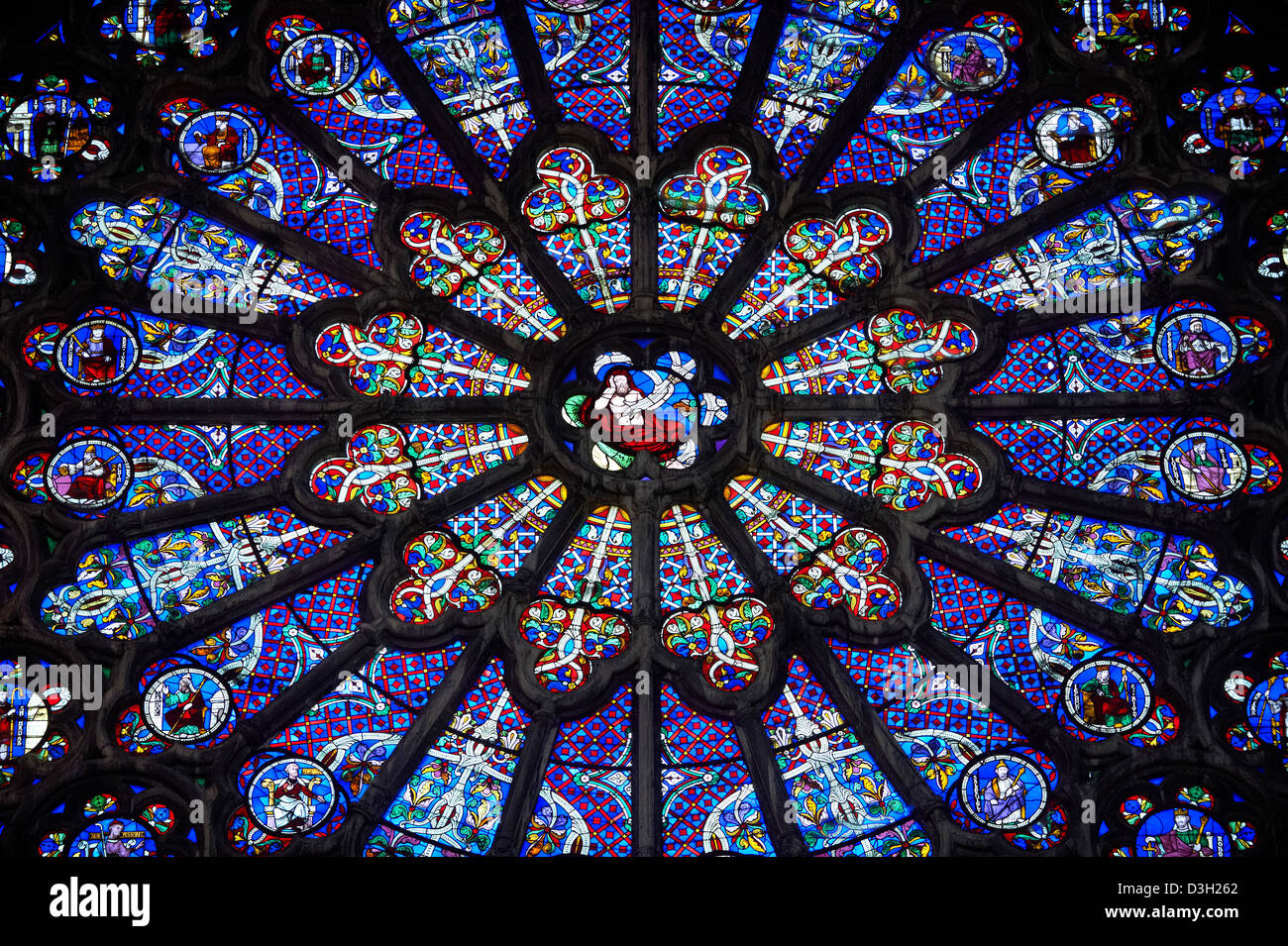 Medieval Rayonnant Gothic Stained Glass Rose Window The Cathedral Basilica Of Saint Denis