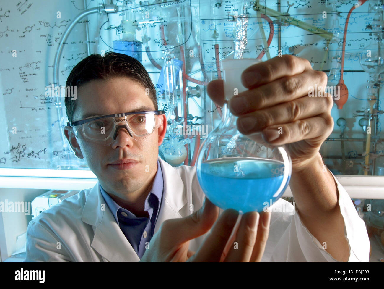 dpa file The picture shows chemist Michael Scheck at work in a – Lab Chemist