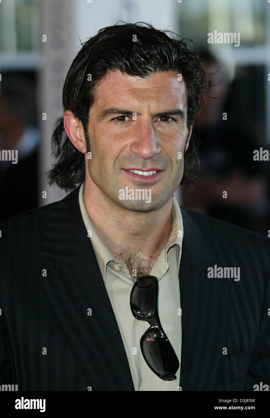 dpa Luis Figo Portuguese soccer star and player for the