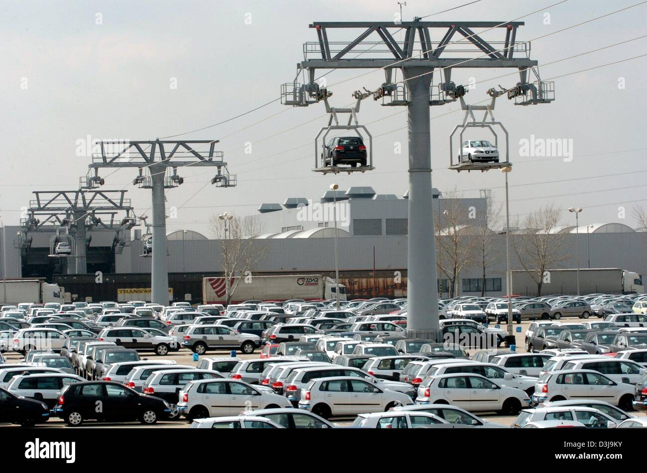 dpa volkswagen vw cars on cable railway platforms