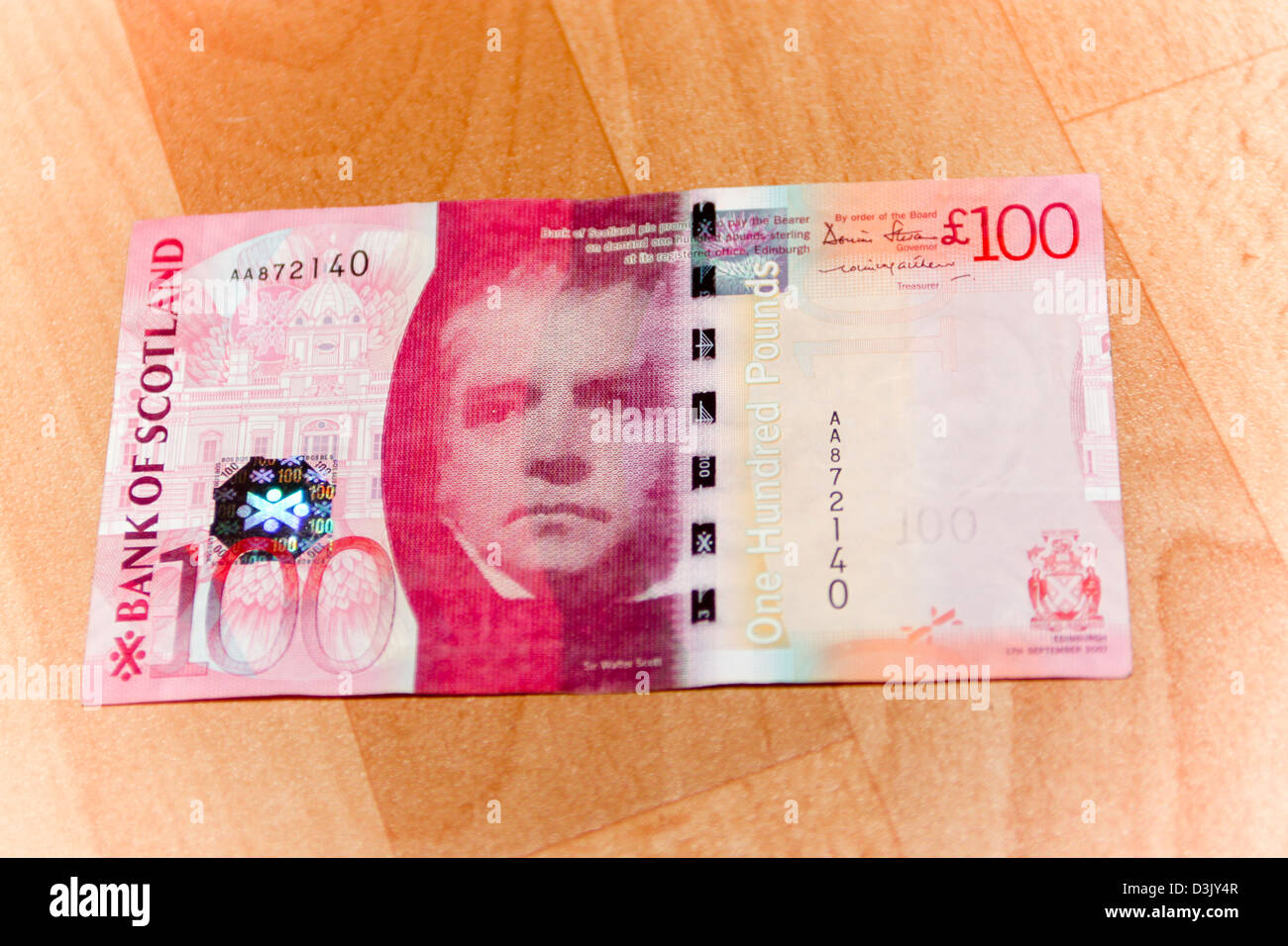 bank of scotland 163100 note stock photo royalty free image