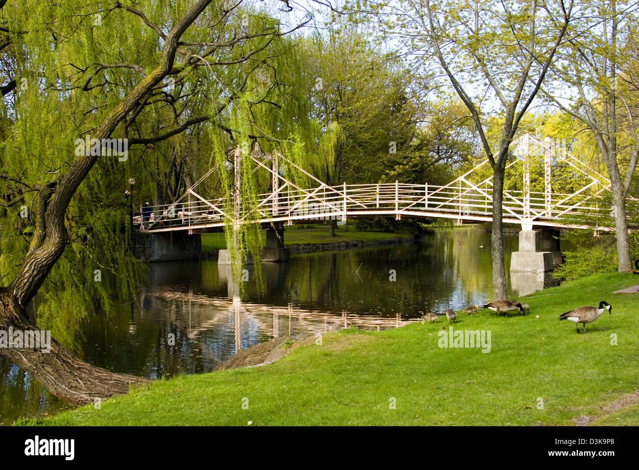 Iron Bridge Victoria Park Kitchener Ontario Canada Stock Photo ...