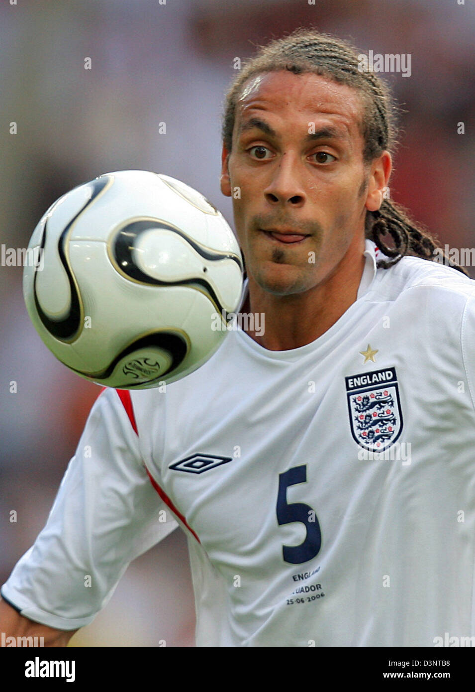 England national soccer player Rio Ferdinand from Manchester
