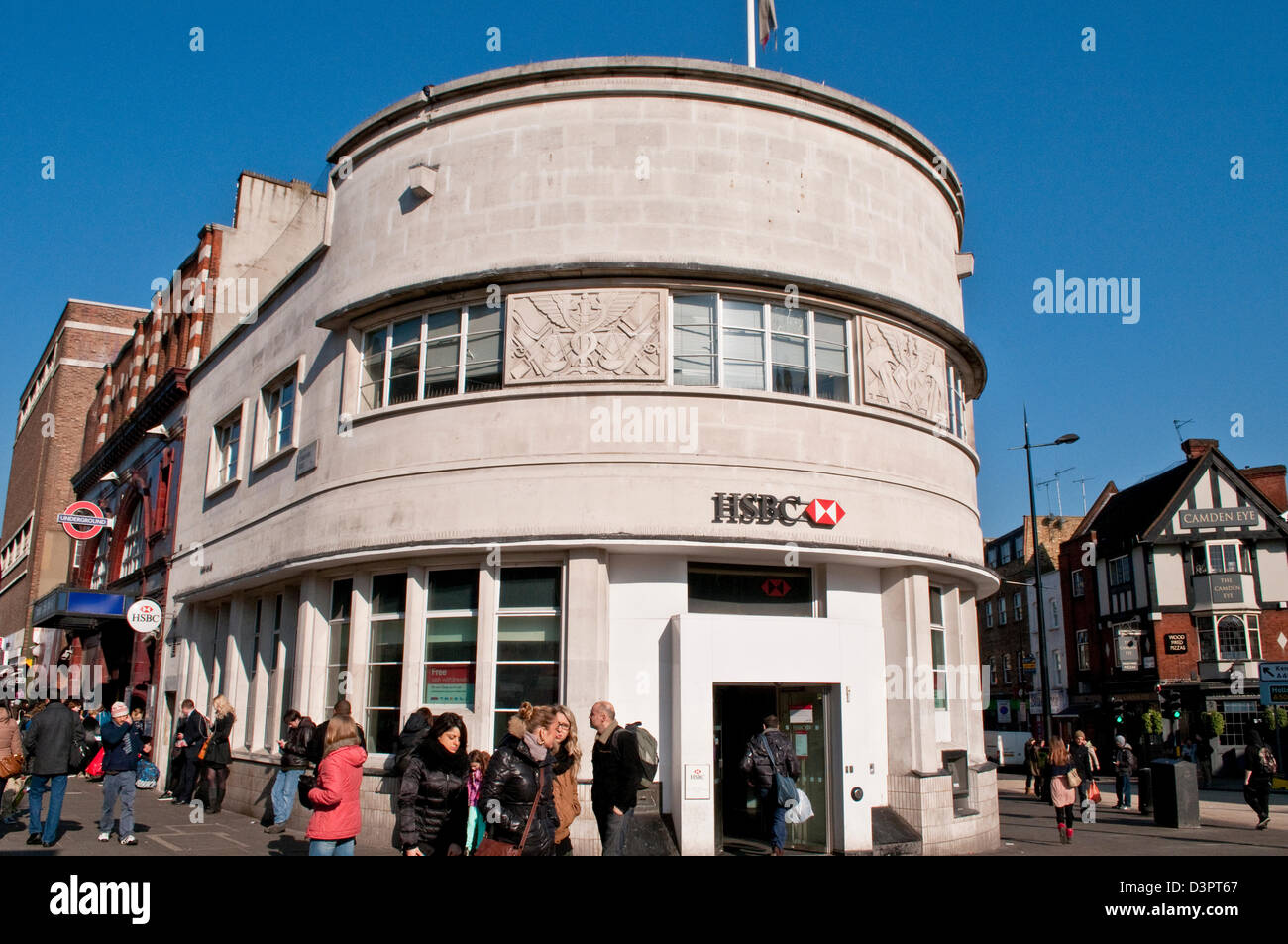 art deco building housing hsbc bank camden town nw1 london uk stock photo royalty free. Black Bedroom Furniture Sets. Home Design Ideas