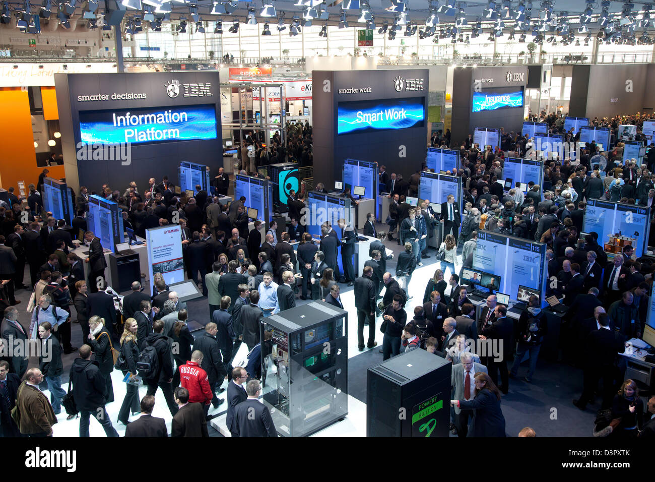 Hannover germany ibm stand at the cebit stock photo for Designer jobs deutschland