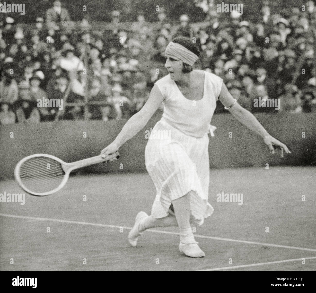 Suzanne Lenglen French tennis player Stock Royalty Free