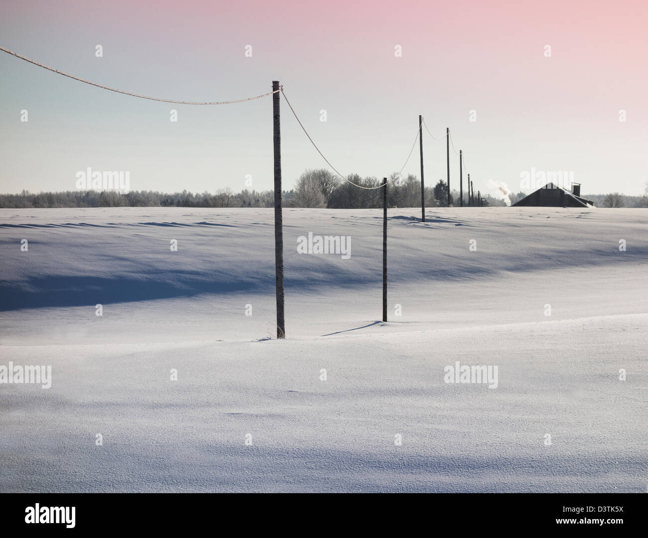 row of wooden electric poles on empty hilly snow covered landscape, engine diagram, landscape electrical wiring