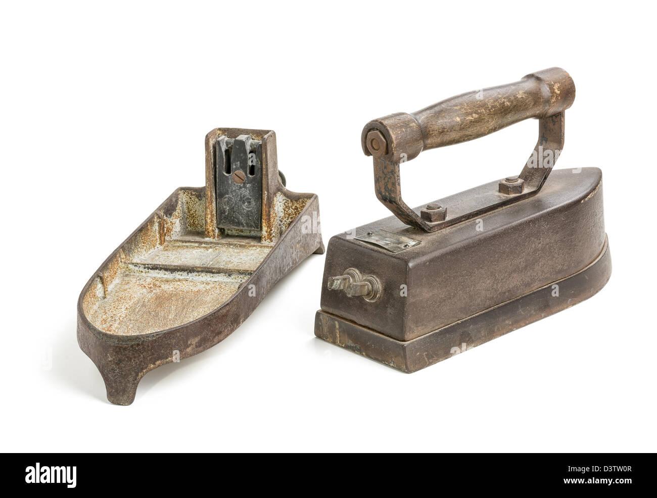 Antique Electric Irons ~ Antique electric iron stock photo royalty free image