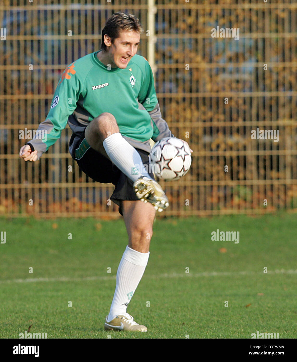 Miroslav Klose of Bremen pictured during the training at the Weser