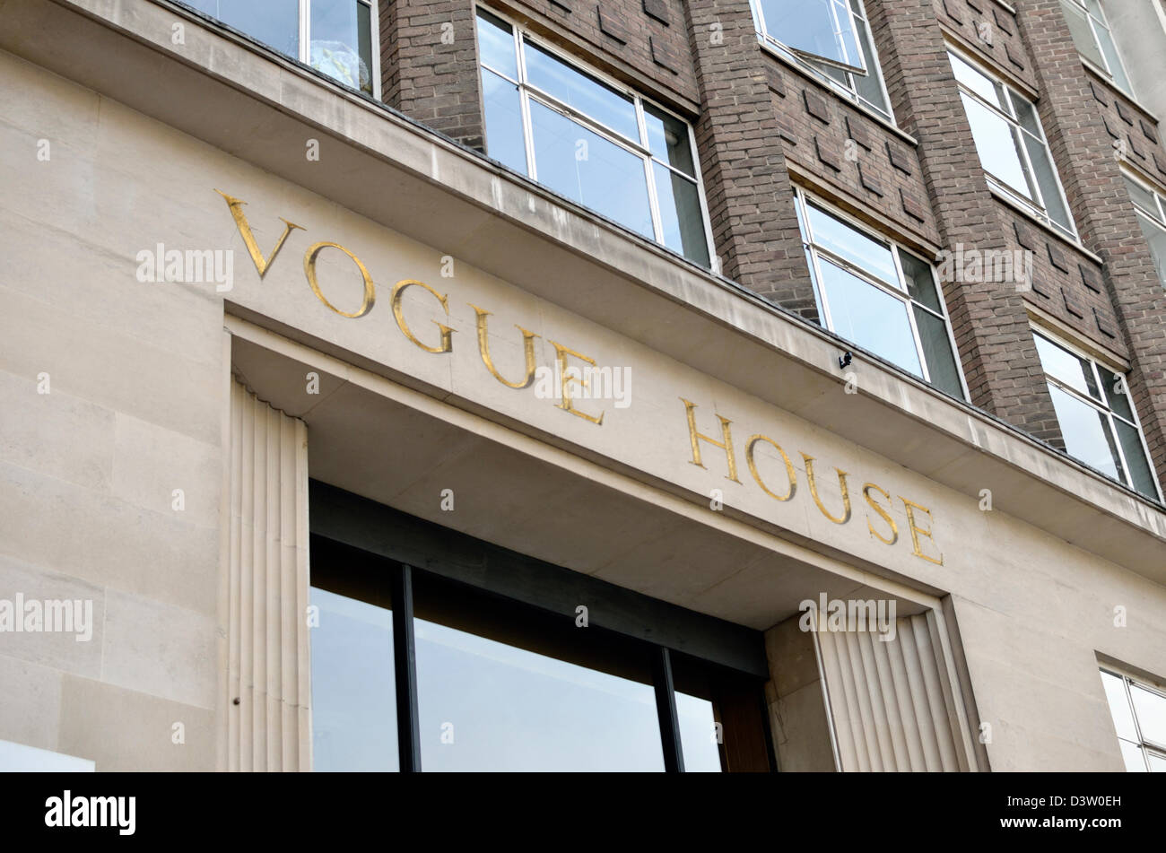 vogue house in hanover square london uk stock photo