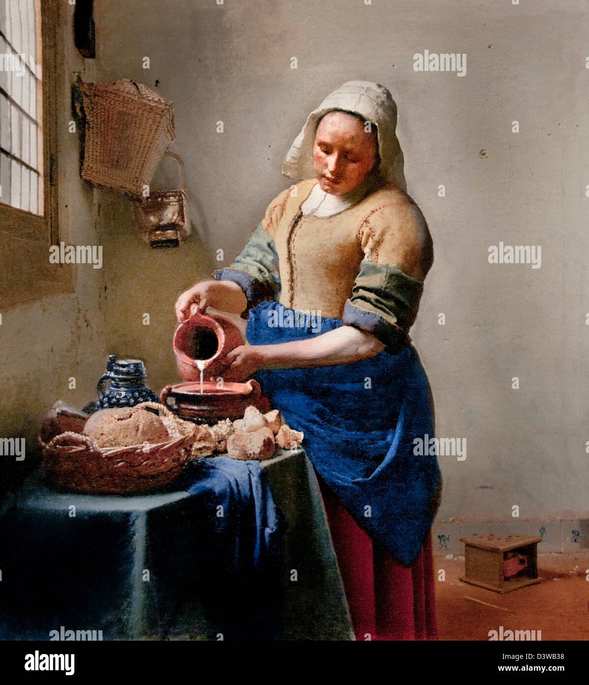 The Kitchen Maid Milkmaid - Het melkmeisje (1658-1660) Johannes ...