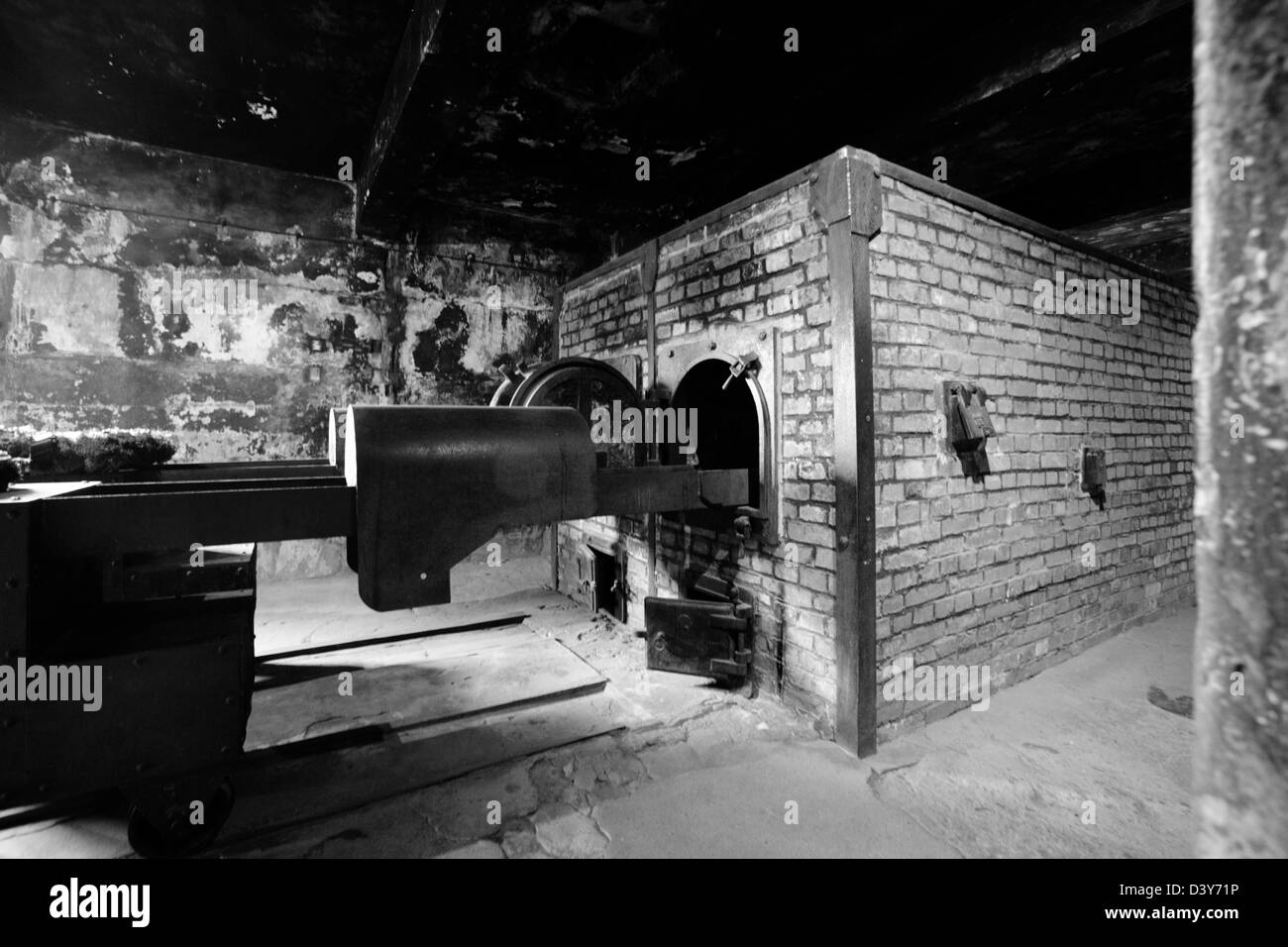 the crematoria oven in auschwitz nazi concentration camp