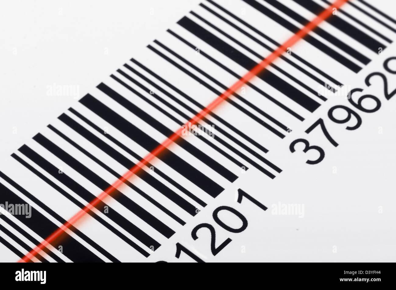 Close Barcode Laser Scanner Beam Stock Photo – Wonderful